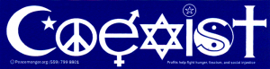"MS72 - Coexist - Mini-Sticker (5.5"" X 1.5"")"