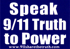 "Speak 911 Truth to Power - Small Bumper Sticker / Decal (3.5"" X 2.5"")"