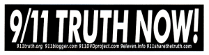 "911 Truth Now! - Small Bumper Sticker / Decal (5.5"" X 1.5"")"