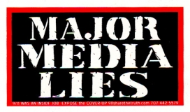 "Major Media Lies - Mini-Sticker (3.75"" X 2.25"")"