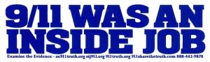 """9/11 Was An Inside Job - Small Bumper Sticker / Decal (5.5"""" X 1.5"""")"""