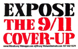 "Expose the 9/11 Cover-Up - Small Bumper Sticker / Decal (4"" X 2.75"")"