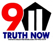 911 Truth Now (with Pentagon image) - Mini-Sticker