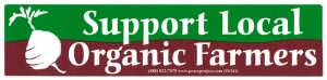 S341 - Support Local Organic Farmers - Bumper Sticker
