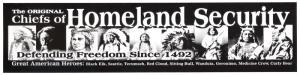 S454 - The Original Homeland Security - Bumper Sticker