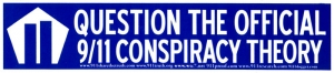 Question the Official 9/11 Conspiracy Theory - Bumper Sticker / Decal