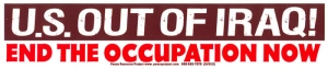 SC513 - US Out of Iraq - End the Occupation - Bumper Sticker