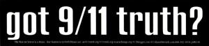 SC519 - Got 9/11 Truth? - Bumper Sticker