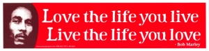 S528 - Live the Life You Love, Love the Life You Live - Bumper Sticker