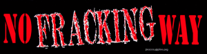 "No Fracking Way - Anti-Fracking Bumper Sticker / Decal (11.5"" X 3"")"