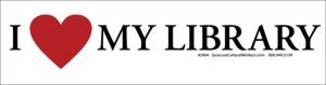 S550 - I Love My Library - Bumper Sticker