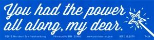 "You had the power all along, my dear - Bumper Sticker / Decal (11.5"" X 3"")"