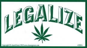 """Legalize - Bumper Sticker / Decal (5.5"""" X 3"""")"""