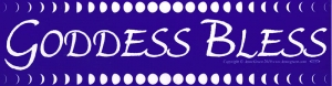 "Goddess Bless - Bumper Sticker / Decal (11.5"" X 3"")"