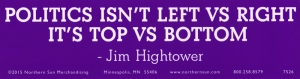 Politics Isn't Left vs Right, It's Top vs Bottom - Bumper Sticker / Decal (11.5""