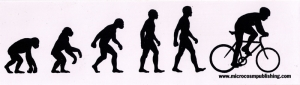 "Bike Evolution - Bumper Sticker / Decal (8.25"" X 2.25"")"