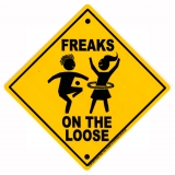 "Freaks on the Loose - Bumper Sticker / Decal (4"" Square)"