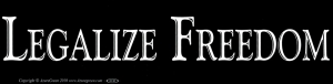 "Legalize Freedom - Bumper Sticker / Decal (11.5"" X 3"")"