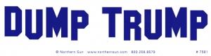 """Dump Trump - Bumper Sticker / Decal (11.5"""" X 3"""")"""