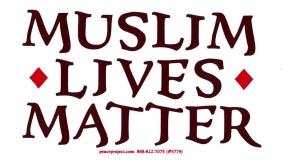 """Muslim Lives Matter - Bumper Sticker / Decal (6"""" X 3.5"""")"""