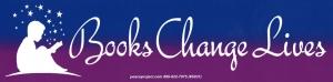 "Books Change Lives - Bumper Sticker / Decal (9.5"" X 2.4"")"