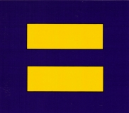 "Equality Symbol - Bumper Sticker / Decal (4"" X 3.5"")"