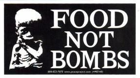 """MS140 Food Not Bombs - Mini-Sticker (4.25"""" X 2.5"""")"""