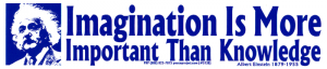 Imagination is More Important Than Knowledge - Bumper Sticker / Decal