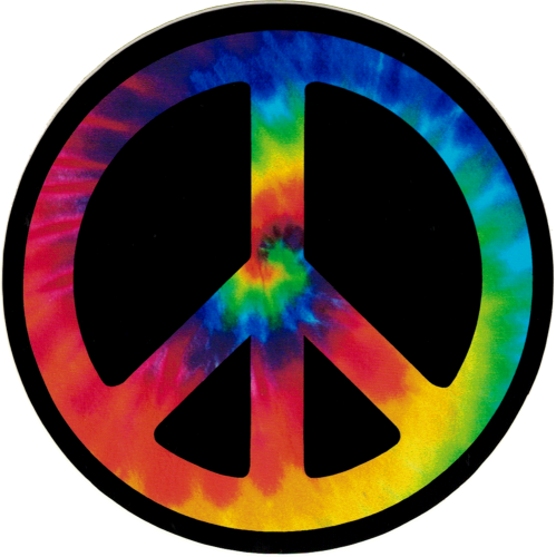 Peace Sign Stickers - Small Bike Stickers and Decals ...