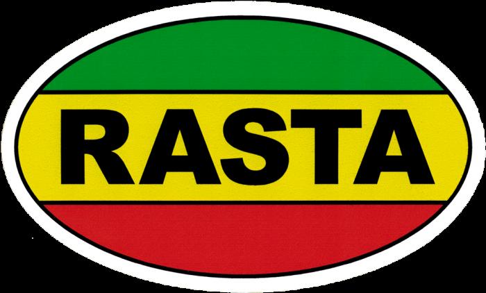 Rasta small bumper sticker decal 5