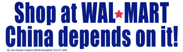 Shop at walmart china depends on it bumper sticker decal 10