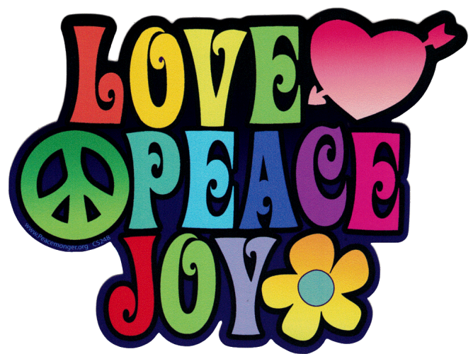 Hippie Bumper Stickers and Decals | Peace Resource Project