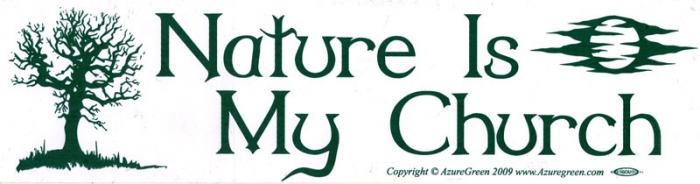 Nature is my church bumper sticker decal 11 5