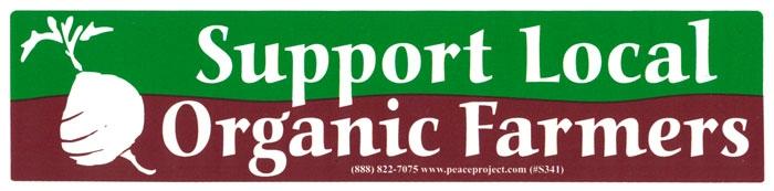 S341 support local organic farmers bumper sticker