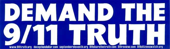 Demand the 9 11 truth bumper sticker decal 9