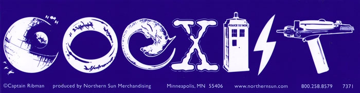 Science fiction coexist bumper sticker decal 11 5
