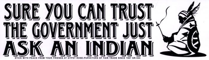 Just ask an indian bumper sticker