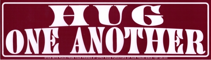 Hug one another bumper sticker decal 11 5