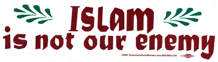 Islam is not our enemy bumper sticker decal 11 5
