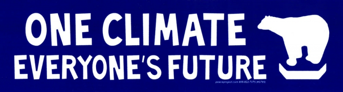 One climate everyones future bumper sticker decal 8 25