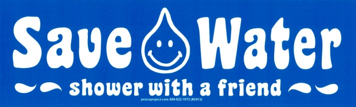 Save water shower with a friend bumper sticker decal 9 x