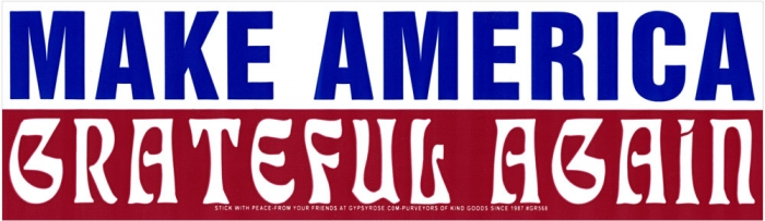 Make america grateful again bumper sticker decal 10 5