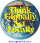 B040 - Think Globally, Act Locally - Button