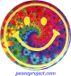 """Smiley Face Over Flowers - Button / Pinback (1.25"""")"""