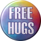 "Free Hugs - Button / Pinback (1.25"")"