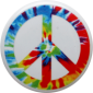 Tie Dye Peace Sign - Button