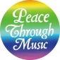 "Peace Through Music (pastels) - Button (1.25"")"
