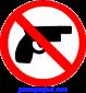 Handgun (slashed out) - Button