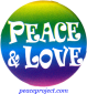 B603 - Peace And Love - Button