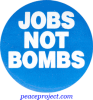 B021 - Jobs Not Bombs - Button
